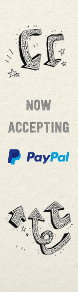 Now accepting payments with PayPal